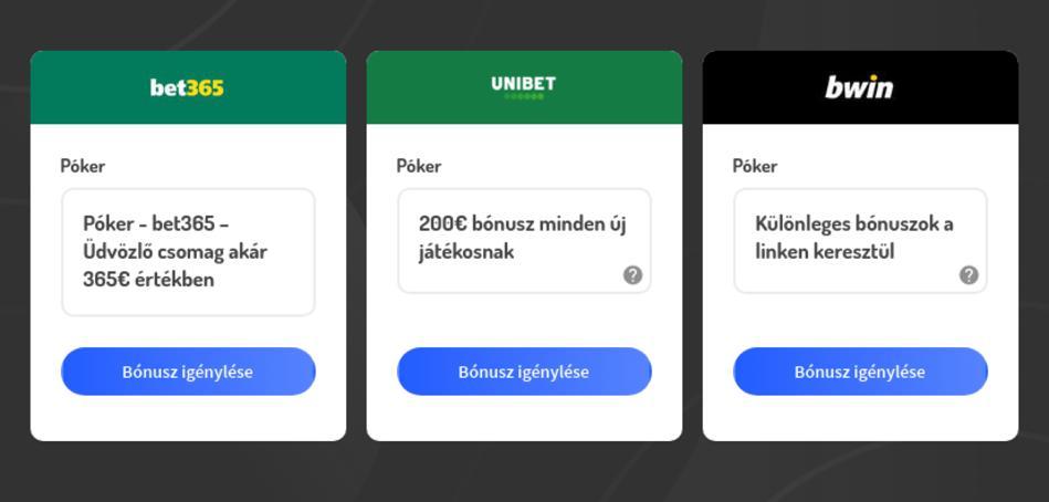 Legjobb online póker oldalak